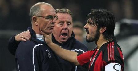 Ver pelea de Gatusso Juego Milan Tottenham 15/02/2011.