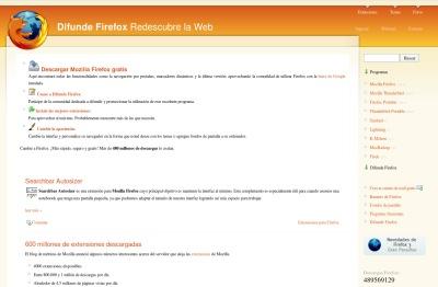 Difunde Firefox, un portal para los fanáticos de Firefox