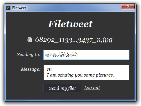 Enviar Archivos Pesados por Twitter