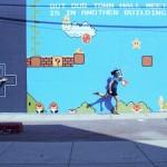 Mural interactivo de Mario Bros