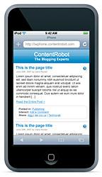 Cómo lograr que tu blog se vea perfecto desde el iPhone